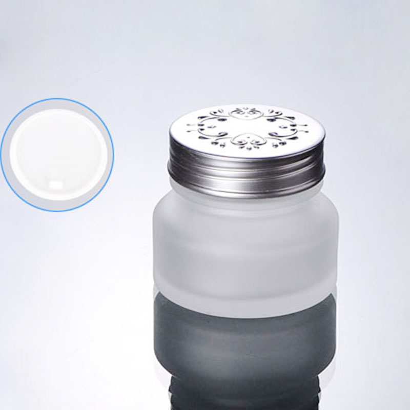 12 x 50G FROST GLASS CREAM COSMETIC CONTAINER SILVER LID WHOLESAL NEW ARRIVAL!!