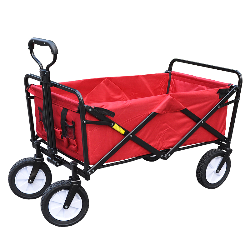 Camping Shopping Cart Portable Steel Frame Outdoor Camping Cart Collapsible Folding Outdoor Utility Wagon image
