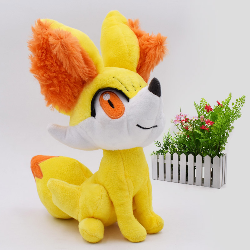 24 Cm Anime Peluche Toy Fennekin Animal Stuffed Plush Baby Toys Great Christmas Gift For Children