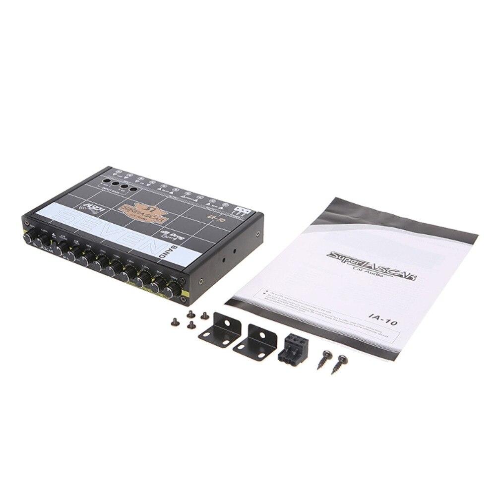 OOTDTY voiture Audio 7 bande égaliseur modifié voiture égaliseur égaliseur classe fièvre Audio voiture Tuner - 2