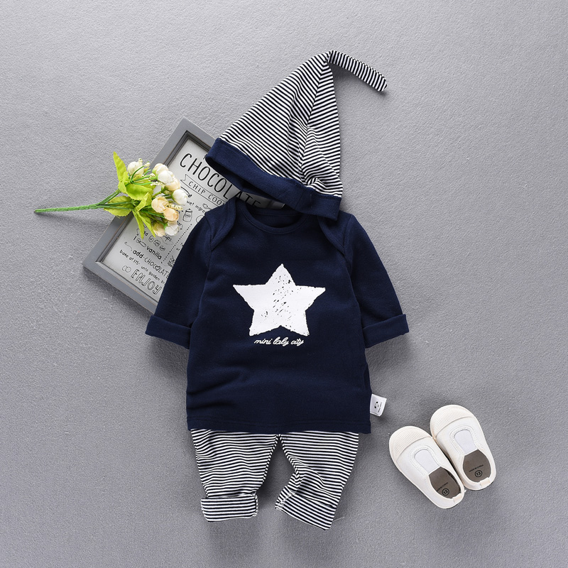 ФОТО 2017 new casual 3 sets newborn baby boy clothes baby girl rompers baby jumpsuit Out service baby Climbing clothes MD150015