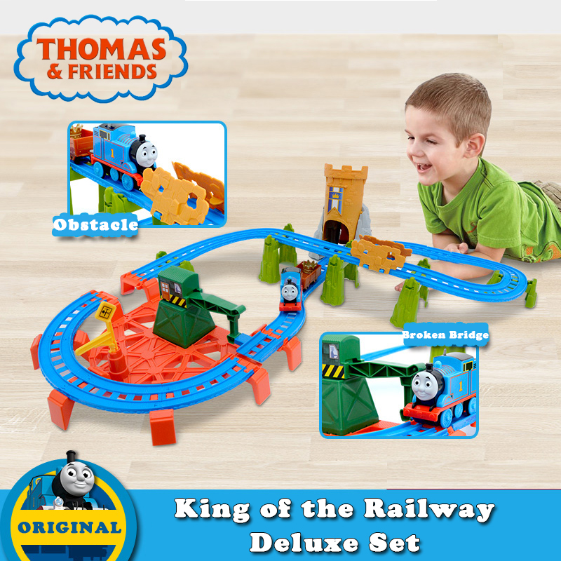 Original Thomas and Friends Electric Train Series Toy for Children Plastic Railway Track Car Toy Blue Lovely Train Thomas BGL99