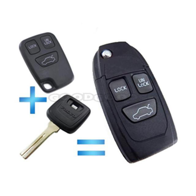 new 3 buttons for volvo c70 s40 s60 s70 s80 s90 v40 v70 v90 xc70new 3 buttons for volvo c70 s40 s60 s70 s80 s90 v40 v70 v90 xc70 xc90 keyless entry flip floding remote key shell fob case