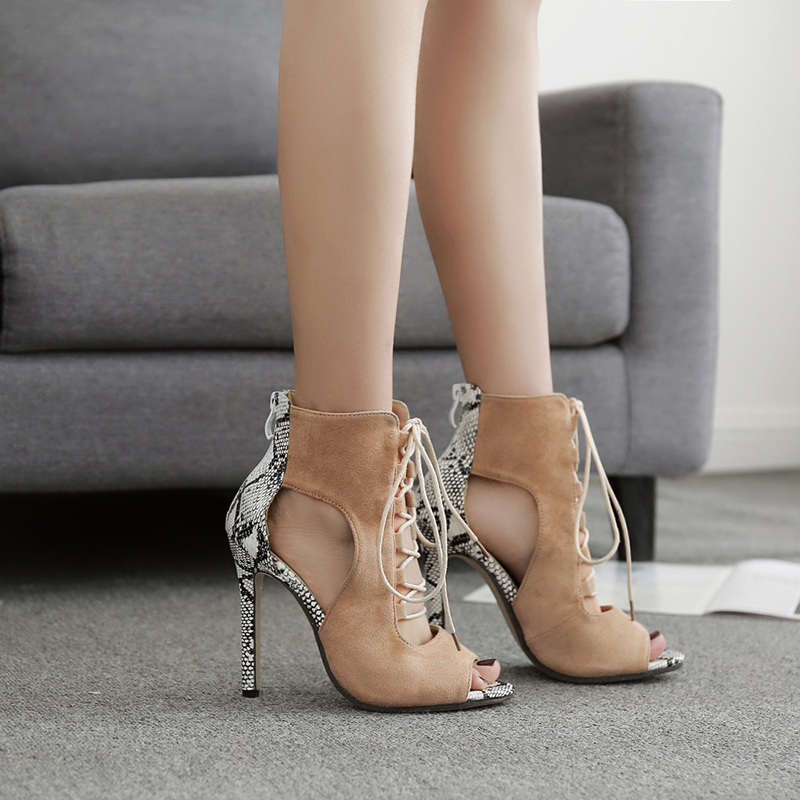 Women Sandals Gladiator High Heels Sexy Serpentine Open Toe Cross Strap Stiletto Pumps Wedding Party Shoes Woman Ankle Boots Hot rome new sexy high heels wedding shoes woman 2017 brand cross tied women luxury retro square toe gladiator sandals women boots