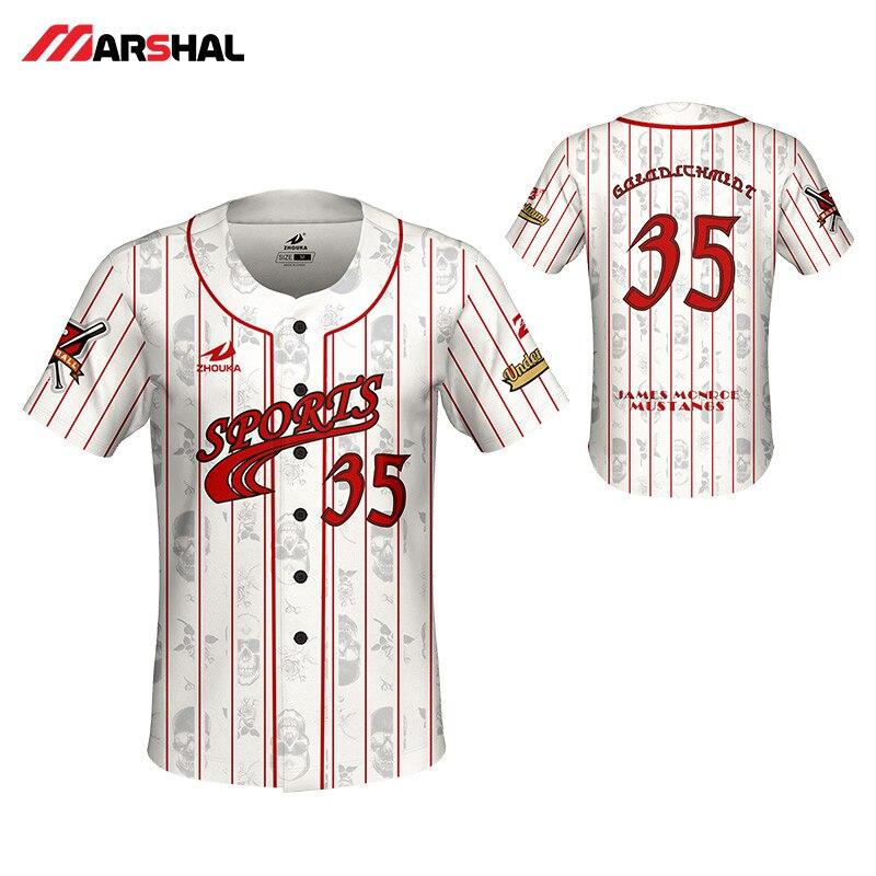 Cheaper Throwback Baseball Jersey Men Sublimation Custom Camiseta Beisbol Hombre Breathable Camisa Beisebol Shirt