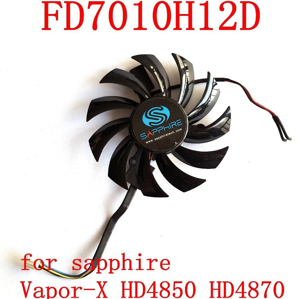 Free shipping NTK FD7010H12SD 73mm 4Pin 39x39x39mm 12V 0.35A for sapphire Vapor-X HD4850 HD4870 graphics card fan free shipping t129025su 12v 0 38a 4pin for asus hd7970 hd7950 gtx680 directcu ii graphics card fan