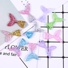10 PCS/Lot Glittering Crystal Clear Mermaid Fish Tail Slices Slime Filler For Kids Lizun DIY Accessories Supplies Decoration