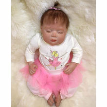 Girl Baby Dolls Reborn 20 Inch Lifelike Realistic Alive Babies Toy Silicone Soft Doll Cloth Body Newborn Toys Kids Best Playmate