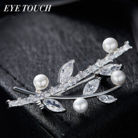 EYE TOUCH Crystals From Swarovski Brooches Women Retro Femal Palace Branches Design Jewelry Elegant Luxury Classic