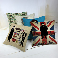 Sherlock Holmes Pillow Cover