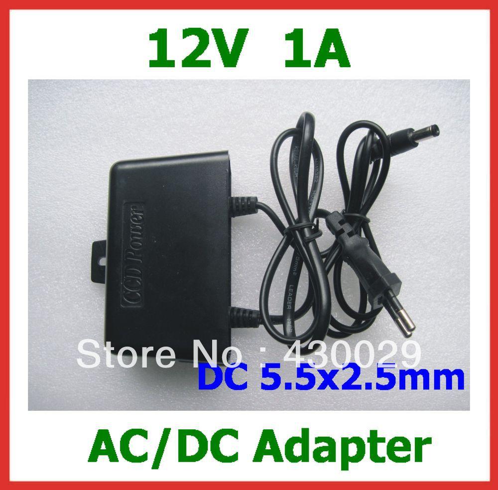 10 шт. наружная коммутация 12 В 1A DC 5,5x2,5 мм блок питания для монитор камеры CCTV