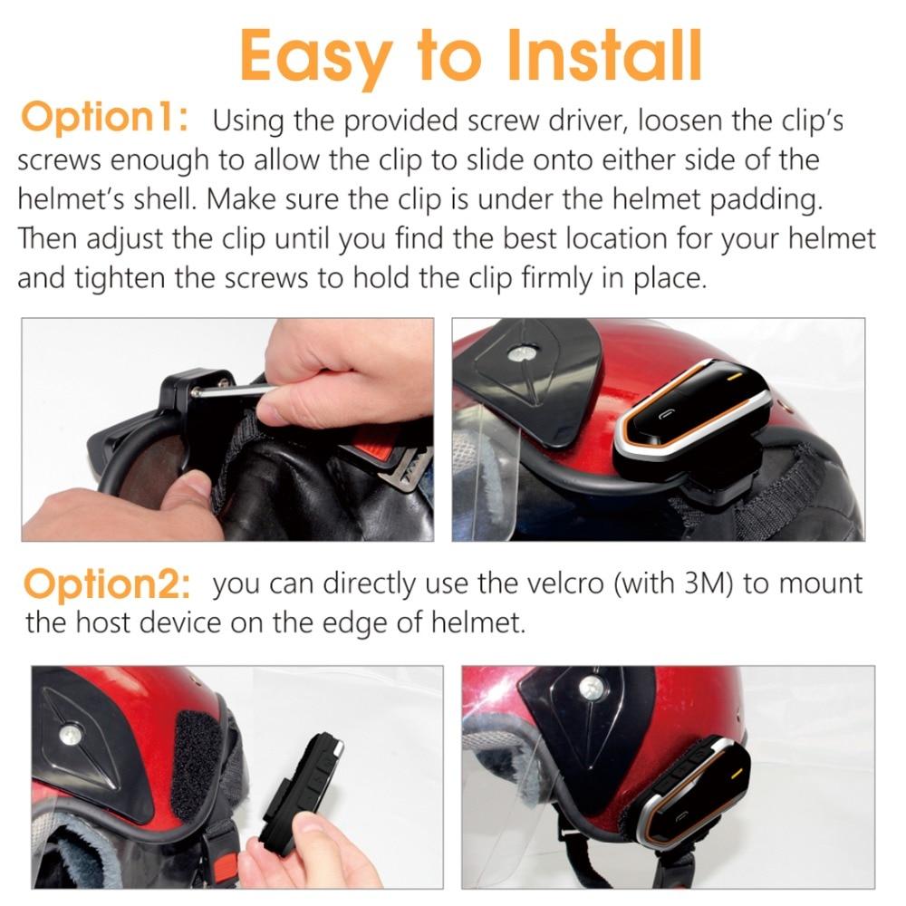 E5688 Bluetooth Motorcycle Helmet Headset (5)