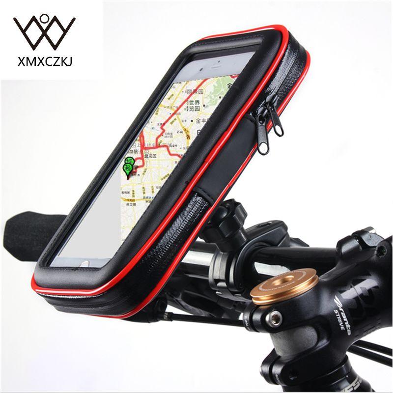 Cykelcykel Motorcykelhållare med vattentät fodral Väska styrhållare telefonhållare stativ för iPhone Samsung Note3 / 4/5 GPS