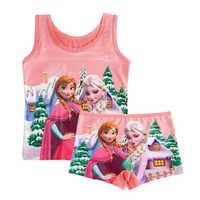 1 stück Cartoon Weste Sommer Pyjamas Kinder Pyjamas Kleidung Kinder Höschen Boxer Set Baby Jungen Mädchen Kleidung Fille Enfant Pyjama