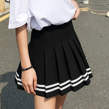 2019 high waist pleated skirts Kawaii Harajuku Skirts women girls lolita a-line sailor skirt Large Size Preppy school uniform(China)