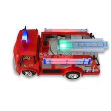 FIREMAN SAM Anime Toy Truck Fire Truck Car Kids Toys with Music LED Light Boy Toy Educational Electronic Toys Color Box