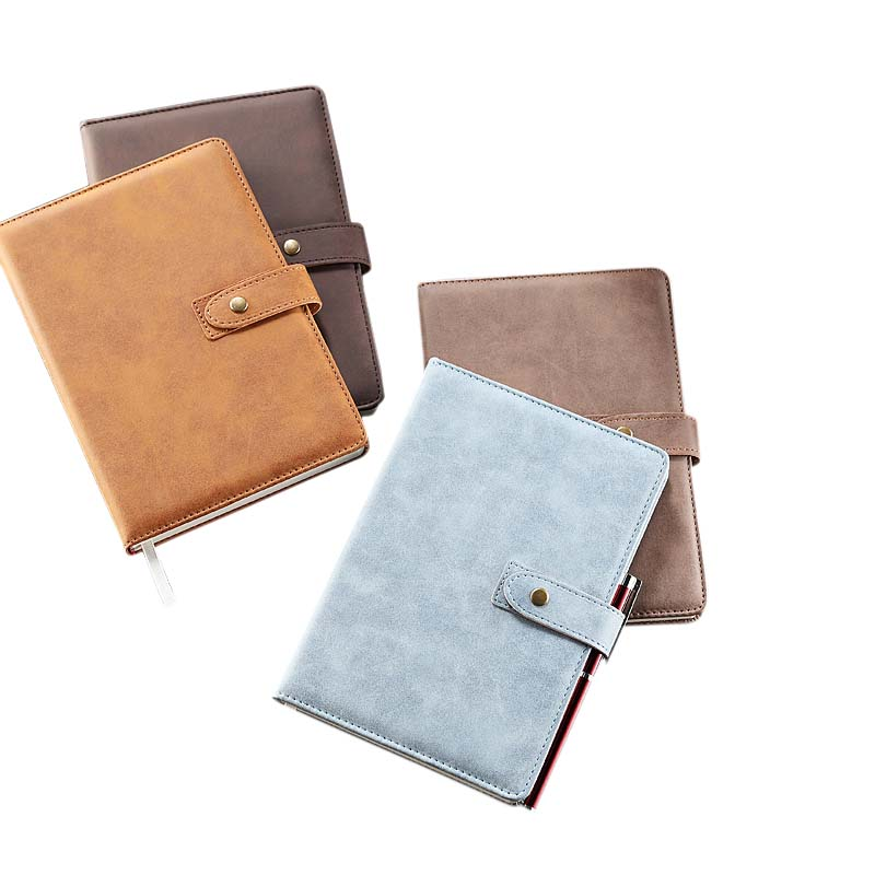 Exquisite Business Hard Leather Notebook Diary Thickened Retro Office Ruled Line Bullet Journal Bujo Notebooks Writing Pads dotted notebook stationery core business drawing chart bullet journal bujo notebooks writing pads
