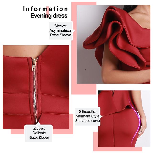 Missord 2019 Women Sexy Bodycon  Off Shoulder Bandage Dresses Female Ruffles Backless Elegant Club Dress Vestido  TB0020
