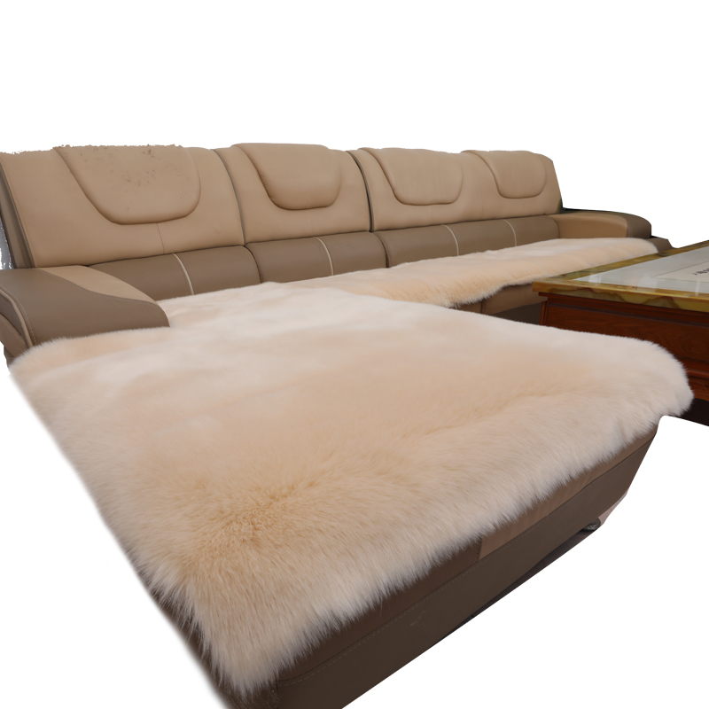 Faux Fur Cushion Non Slip Padded Fabric Plush Imitation