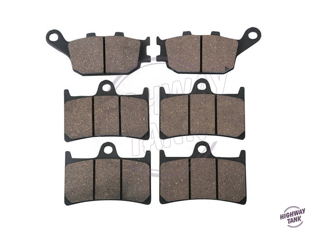 6 Pcs Semi-Metallic Motorcycle Front & Rear Brake Pads case for YAMAHA FZ8 2010- YZF 1000 R1 YZFR1 2004- free shipping 6 pcs semi metallic motorcycle front