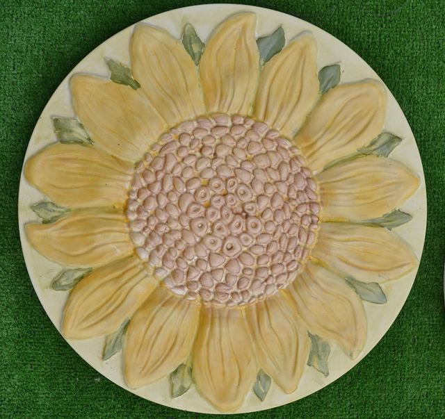 Sunflower Flower Plastic Garden Stepping Stone Casting Mold Path Maker DIY  Yard Concrete Molds For Home