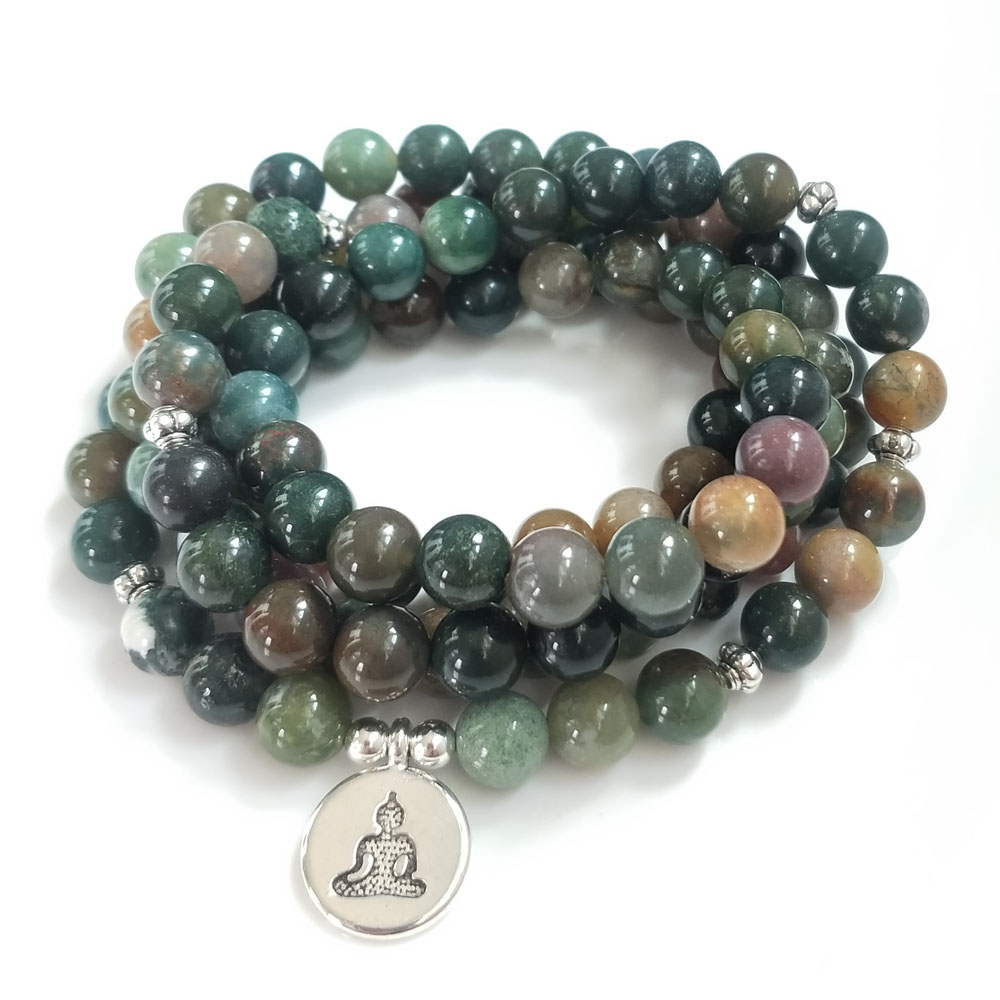 Indian Bloodstone Mala 3