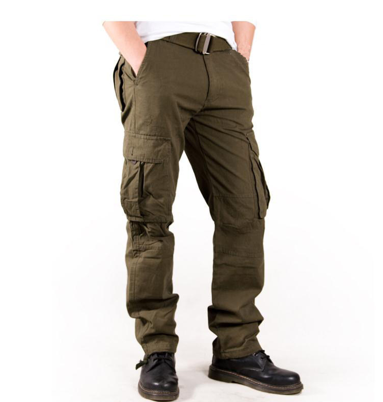 New High End Multi Pockets Cargo Pants Men's Overall Full ...