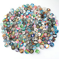 JACK88 New Arrival 100pcs Lot Mixed Many Styles Snaps 18mm Glass Snap Button Fit Ginger Snap