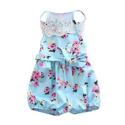 Newborn Infant Baby Clothes Girl Floral Strap Lace Romper Jumpsuit Playsuit Outfit Cute Summer Baby Romper Onesie newborn infant baby clothes girl floral strap lace romper jumpsuit playsuit outfit cute summer baby romper onesie