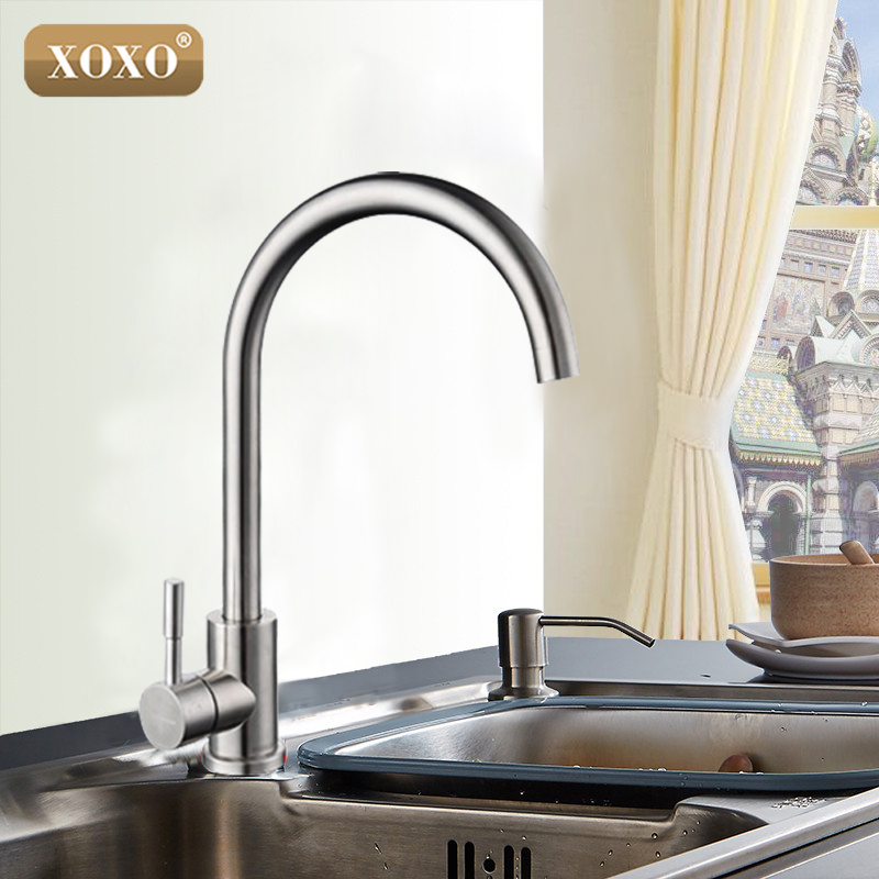 XOXOHigh Quality total 304 stainless steel no lead Kitchen sink Faucet Sink Tap 360 Swivel Mixer Kitchen faucet 83026 xoxohigh quality total 304 stainless steel no lead kitchen sink faucet sink tap 360 swivel mixer kitchen faucet 83026