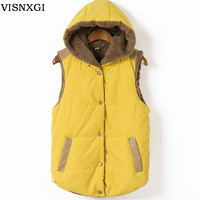 Winter Women Autumn Coat Coral Cotton Leather Fleece Parkas Hooded Patchwork For Female Outerwear Waistcoat 2017 S265