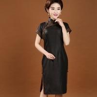 New Arrival Handmade Button Chinese Women's Cheongsam Female 100% Silk Traditional Qipao Dress Size M L XL XXL XXXL 4XL 7081