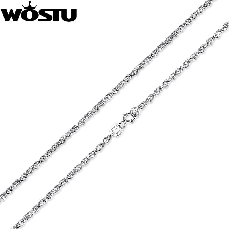 High Quality 100% 925 Sterling Silver Twisted Chains Necklaces Fit For Pendant Charm For Women Men Luxury  Jewelry Gift CQA001High Quality 100% 925 Sterling Silver Twisted Chains Necklaces Fit For Pendant Charm For Women Men Luxury  Jewelry Gift CQA001