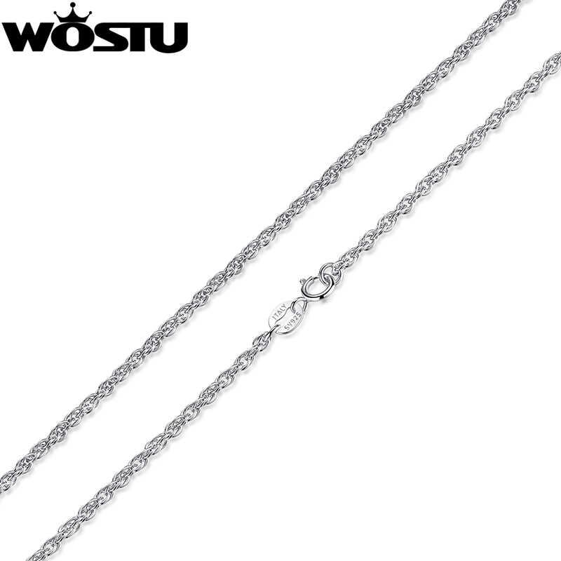 Wysokiej jakości 100% 925 Sterling Silver Twisted łańcuchy naszyjniki nadające się do wisiorek urok dla kobiet mężczyzn luksusowa biżuteria prezent CQA001