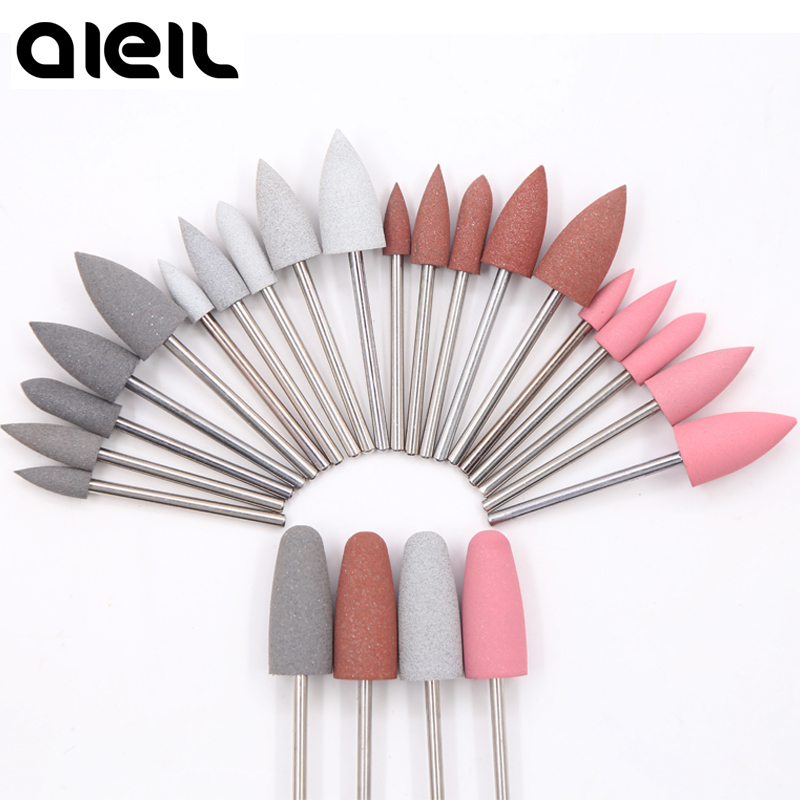 Rubber Silicon Carbide Nail Drill Bits Manicure Set Cutter For Pedicure Manicure Machine Electric Milling Cutter For Manicure