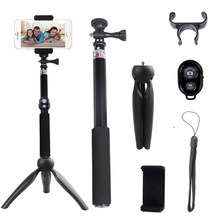 SAGO Selfie StickTripod Gopro Stand Camera tripod 7in1 Extendable Monopod Bluetooth Remote Phone Mount for iPhone,XiaoMi,Samsung(China)