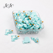 JOJO BOWS 10pcs Resin Dolphin Patches Gold Horn Accessories DIY Hair Rope Bows Ornament Materials Apparel Sewing Supplies