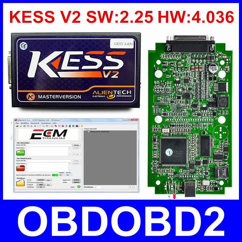 HW V4 036 KESS V2 V2 25 OBD2 Manager Tuning Kit Master Version No Tokens Limited