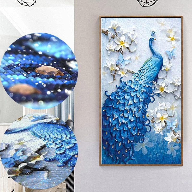 5D Peacock Special Shaped Diamond Painting Full Rhinestone Diamond Embroidery Animal Diamond Mosaic Cross Stitch Home Decor