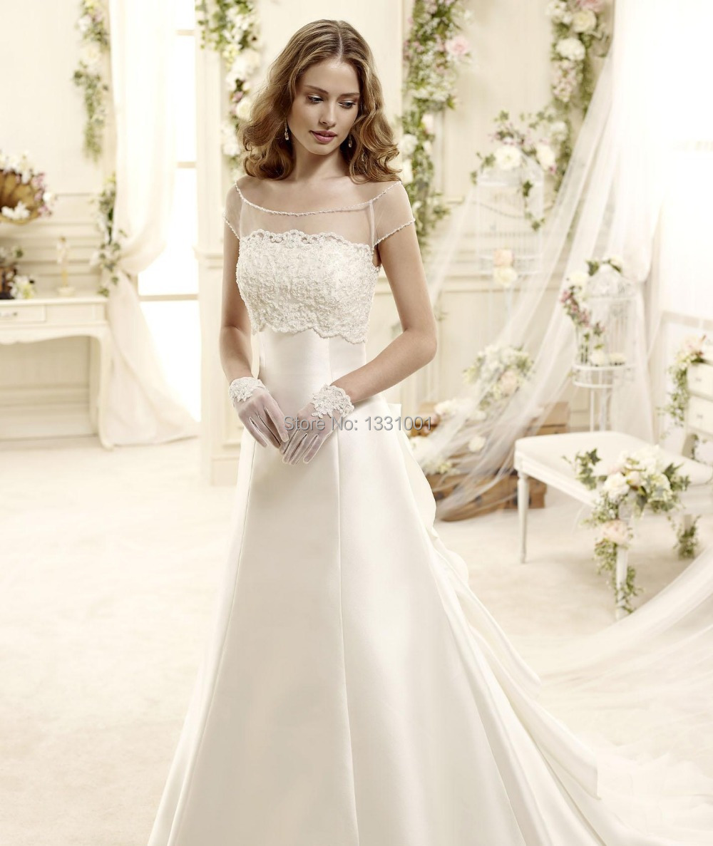 Latest Wedding Gowns 2015: Long Women Weding Dresses Princess With Trail 2015 New