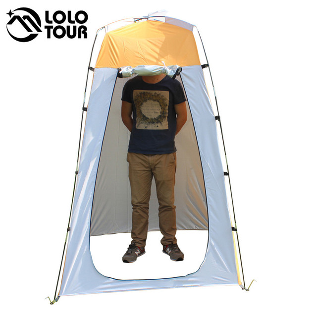 Lightweight Portable Camping Shower tent awning canvas folding Outdoor Toilet Room Privacy showing Changing clothes tente white