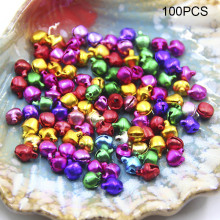 Hot 100pcs Mixed Colors New Christmas Bells Decoration DIY For Party Bracelet Children Gifts MDD88