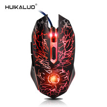 Wired Gaming Mouse USB Optical Computer Mouse 6 Buttons Professional Gamer Mouse For Laptops Desktops Ratones Pc X5 no box(China)