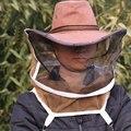 Коричневая вуаль для пчеловодства с ковбойской шляпой шапка пчеловода вуаль для защиты пчел во время ухода за улей