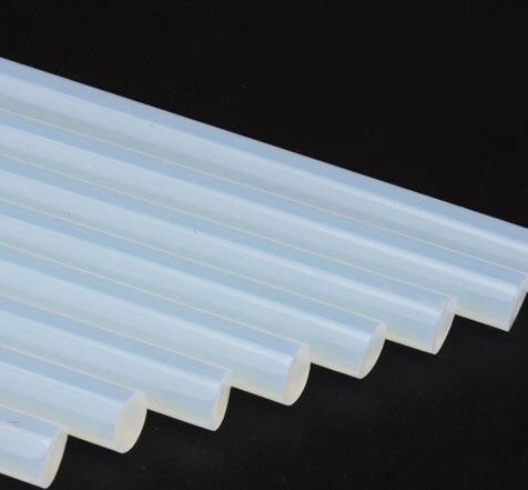 Bâton adhésif de colle thermofusible d'économie de plastique/résine de 7*270mm 25 kg, bâton de pistolet de colle thermofusible translucide
