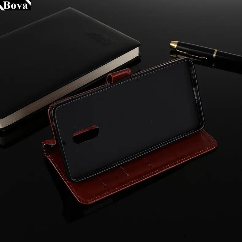 , High Quality Pu leather phone case for Nokia 6 wallet flip cover card holder cover case for Nokia 6 / 6.1 / 6.1 Plus