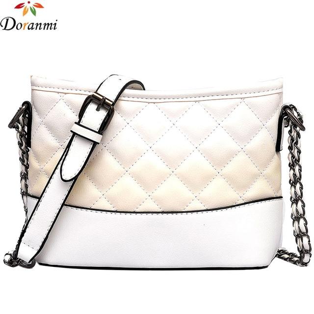 89cb047e1c0a DORANMI Luxury Flap Shoulder Bags For Women 2018 Contrast Color Diamond  Lattice Crossbody Bag Female Chain
