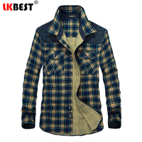 LKBEST Brand Men S Plaid Cotton Casual Shirts Office Long Sleeve Fashion Brand High Quality Male