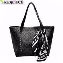 2018 модная женская сумка из искусственной кожи с черепом женская однотонная сумка на плечо в стиле панк мягкая женская сумка черная большая женская сумка-тоут