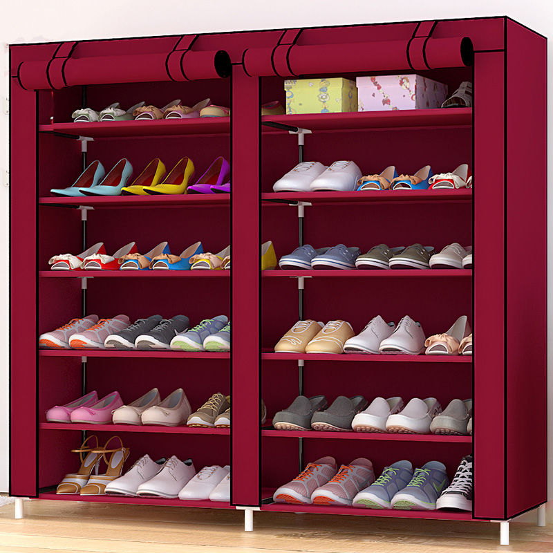 12 Grid DIY assemble Folding cloth Non-woven Shoe Cabinet Furniture Storage Home shelf For Living Room Doorway Shoe Rack